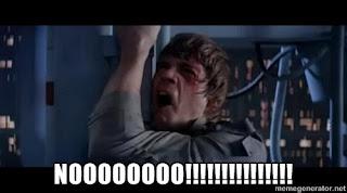 "Star Wars Luke Skywalker saying ""Noooo!"""