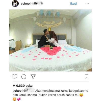 Pasangan SMA Ini Unggah Foto 'Anniversary di Kamar' Bikin Netizen Melongo