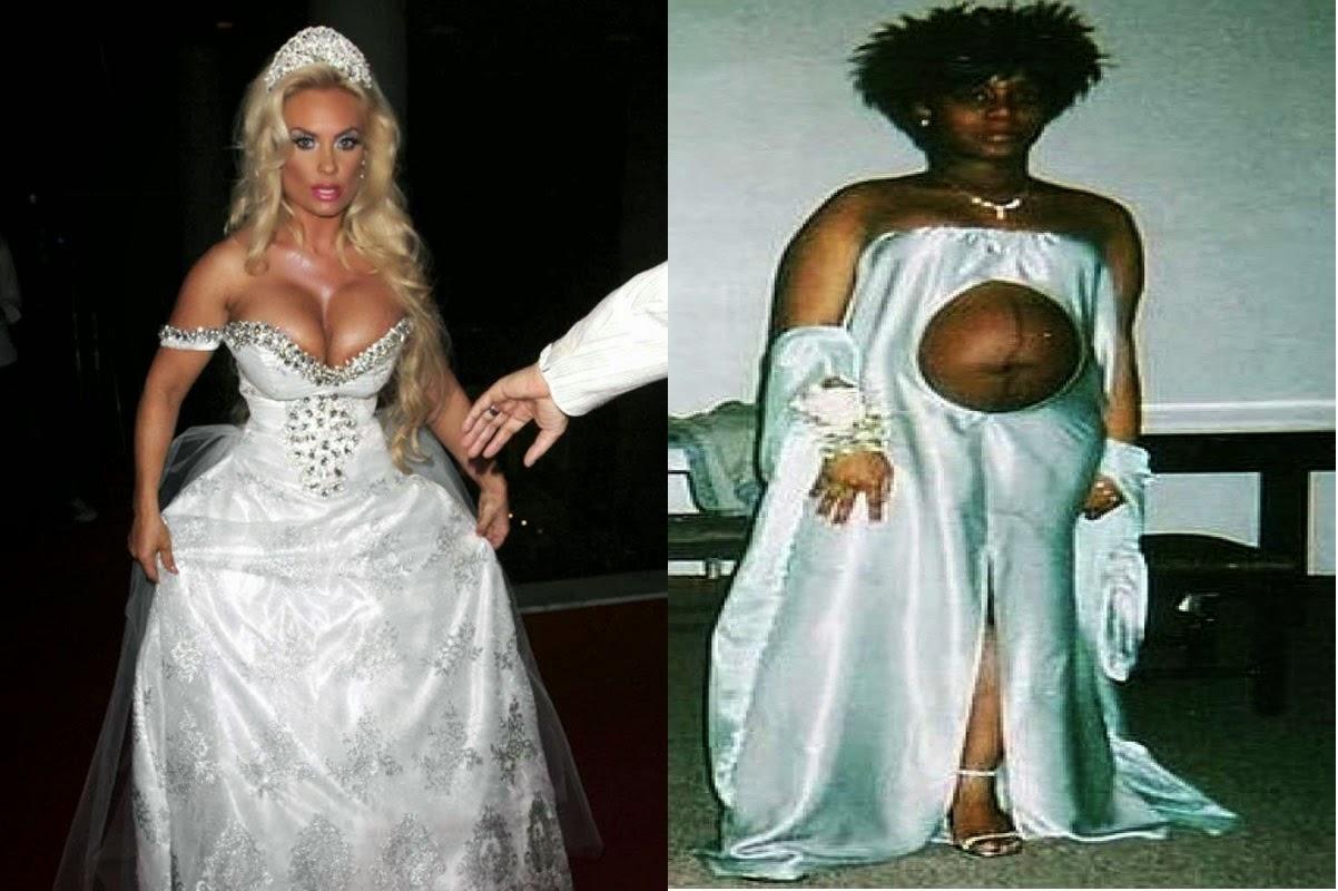 PHOTO: Bride Wears Strange And Body Revealing Dresses On ...