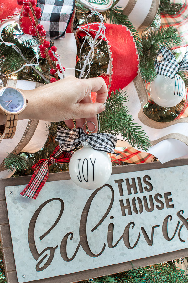DIY Rae Dunn ornaments