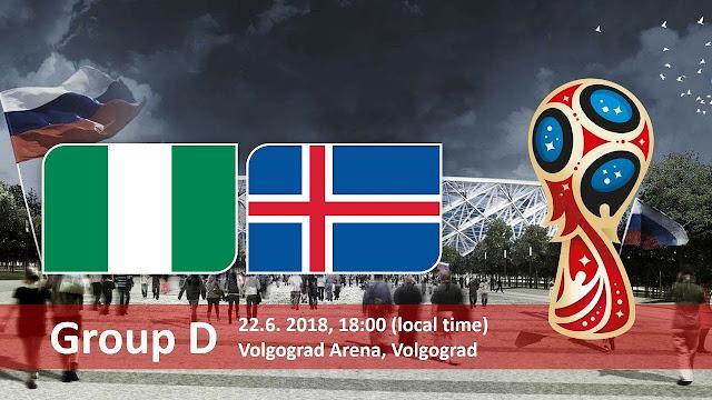 موعد مباراة نيجيريا وآيسلندا Nigeria vs Iceland في مونديال 2018 في روسيا
