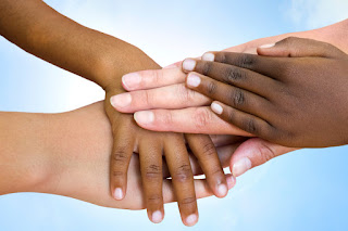 interracial hands