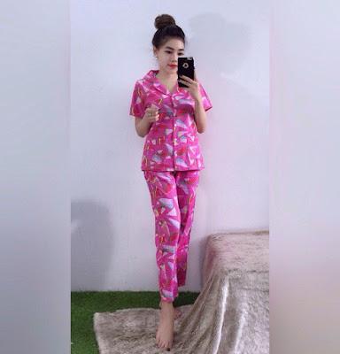 Sét đồ bộ pijama dài tay ngắn mẫu mới nhất