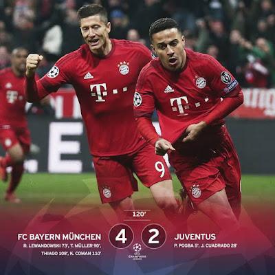 Bayern Menyingkirkan Juventus dari Liga Champions Secara Dramatis