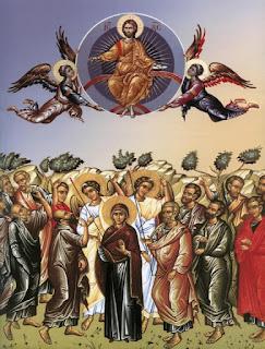 η Ανάληψη η εικόνα της Αναλήψεως του Χριστού