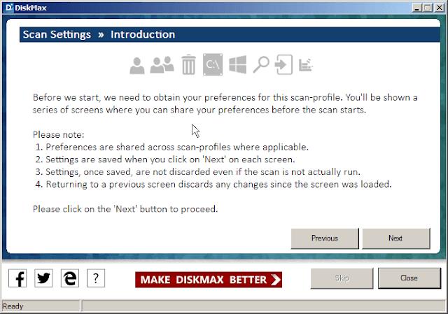 تسريع الكمبيوتر وتنظيفه ببرنامج DiskMax المجاني