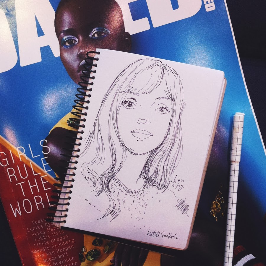 Kitty N. Wong / Lupita and Katell sketchbook
