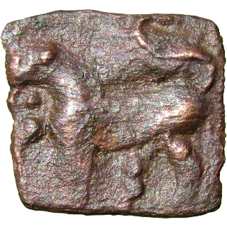 [SCH002] Sangam Age Cholas - Rectangular copper/bronze coin