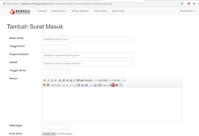 form_aplikasi_pengelolaan_surat_masuk_surat_Keluar