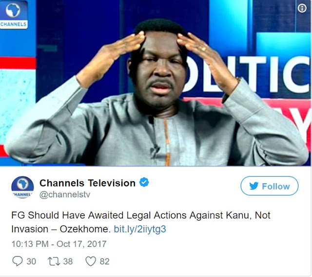 FG Should Have Used Legal Actions Against Nnamdi Kanu, Not Military Invasion - Senior Lawyer, Ozekhome