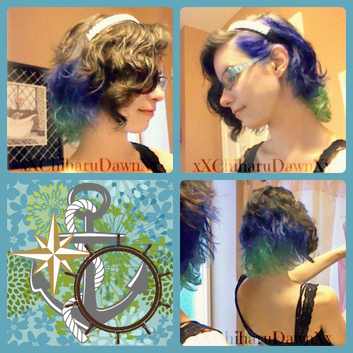 After Much Wait To Get A Bleach And Dye Job I Finally Had My Hair Done Up Colorful Decided That Would Use Both Colors At Once Since Was