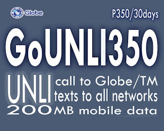 GOUNLI350 Globe promo