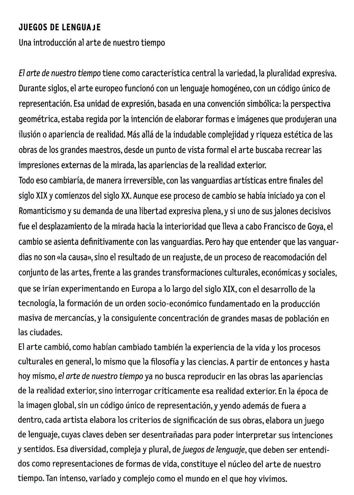 Cuerpo Y Tiempo Juegos De Lenguaje Exposicion En La