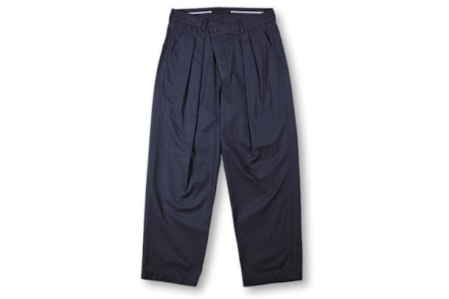 BLACK&BLUE [ 2タックワイドパンツ ] ネイビーチェック