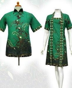 Model Baju Batik Pesta elegan