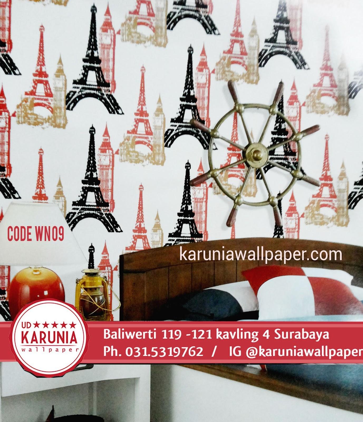 jual wallpaper dinding motif paris karuniawallpaper