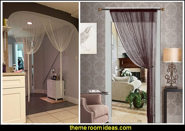 Decorative Door String Curtain Beads Wall Panel Fringe Window Room Divider