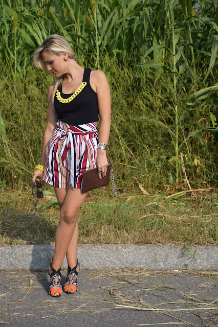 high waisted shorts how to wear high waisted shorts september outfits summer outfits mariafelicia magno fashion blogger italian web influencer italian fashion blogger