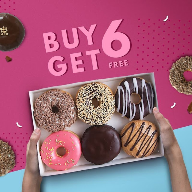 #DunkinDonuts - #Promo Buy 6 Get 6 Free Pakai DD Card & Cashback 20% GOPAY (s.d 30 April 2019)