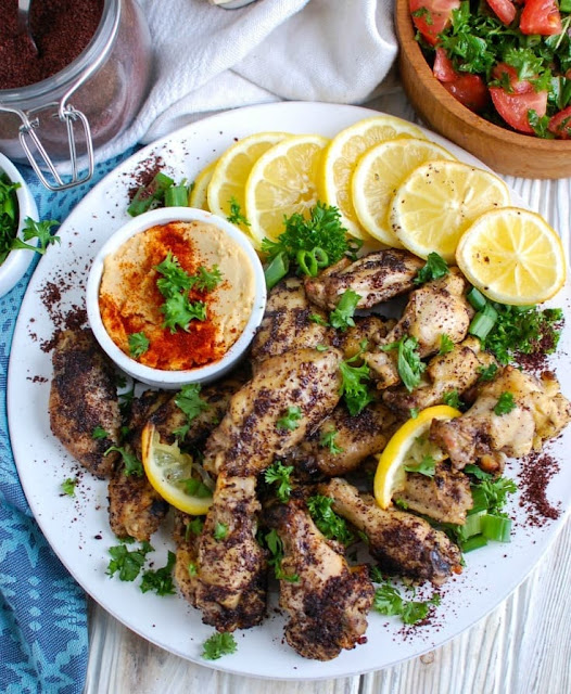 Sumac Lemon Baked Chicken Wings are baked to perfection Sumac Lemon Baked Chicken Wings Recipe