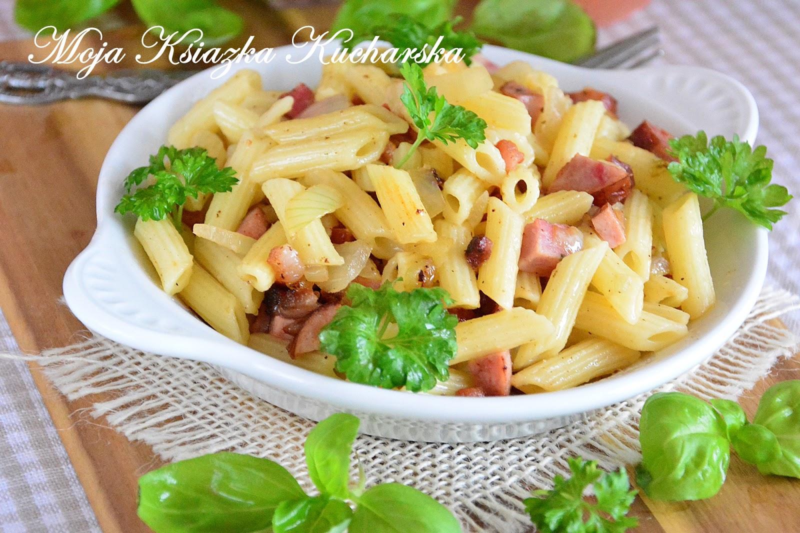 Makaron Z Kielbasa I Cebula Sposob Na Szybki I Smaczny Obiad Moja