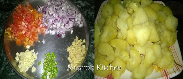 आलू मटर रेसिपी/Aloo matar recipe in Hindi