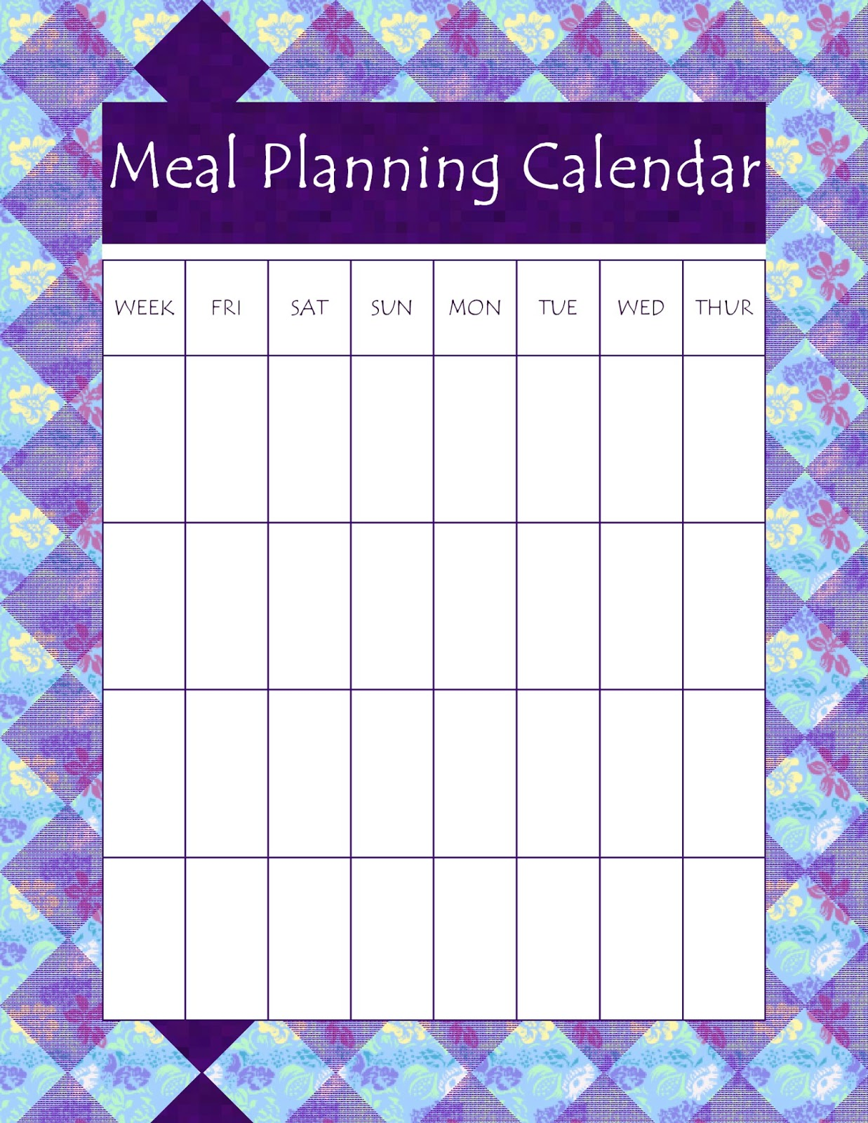 A Heart Hidden In The Lord Meal Planning Week 4 Free