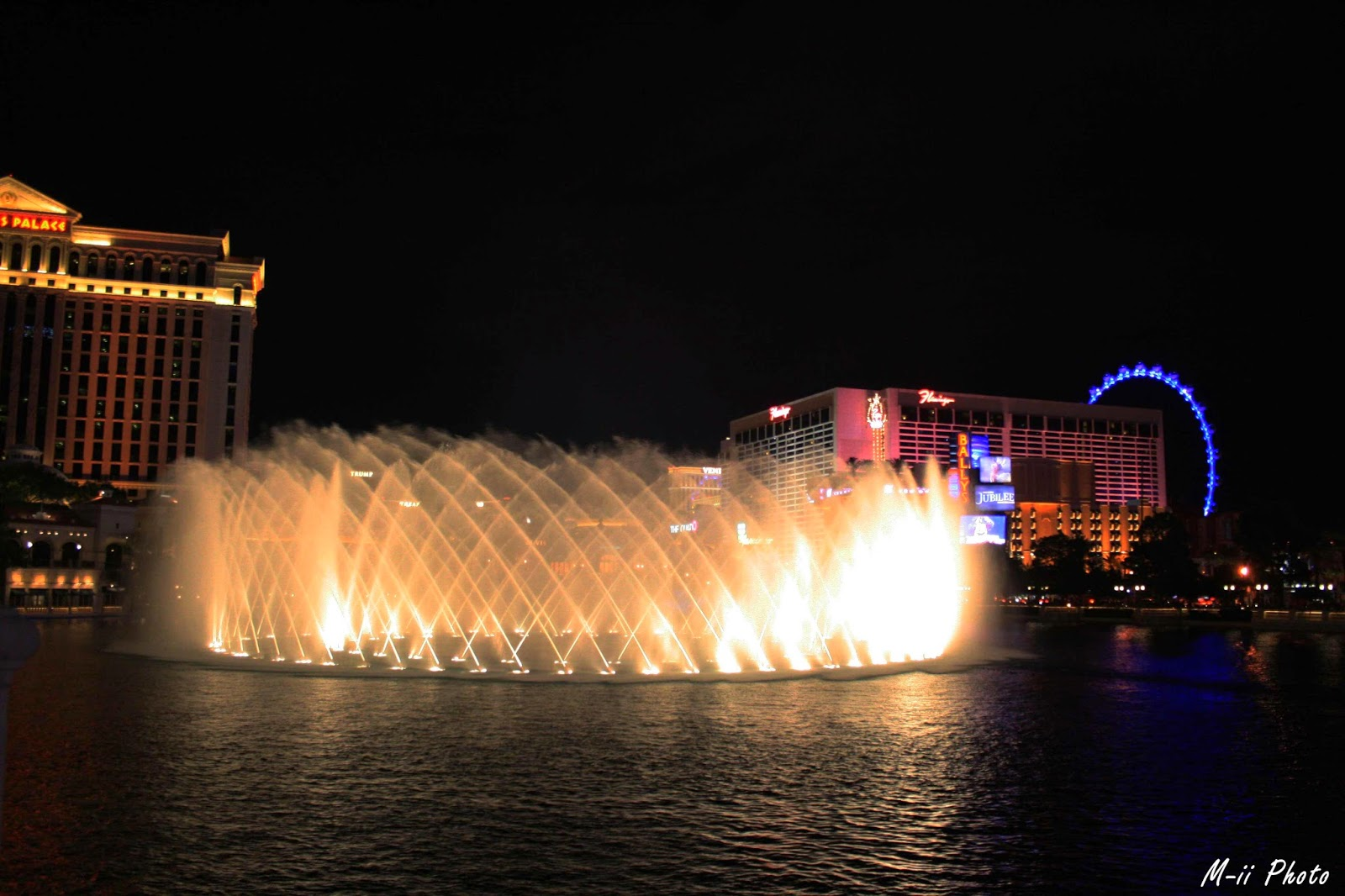 M-ii Photo : Las Vegas Show jets d'eau