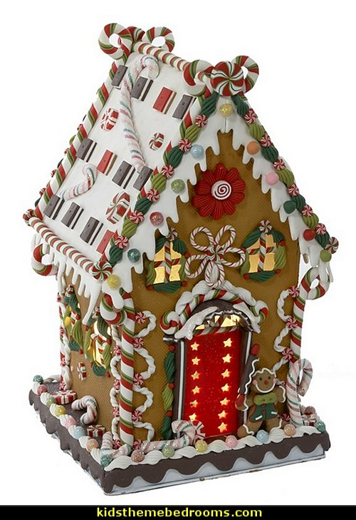Cookie and Candy House   candy Christmas theme decorating - candy themed christmas decorations - christmas candyland decorations -  candy ornaments -  candy shaped holiday ornaments - candy themed Christmas decor -   lollipop candy swirls Throw Pillows - candy stripe Chritmas decor