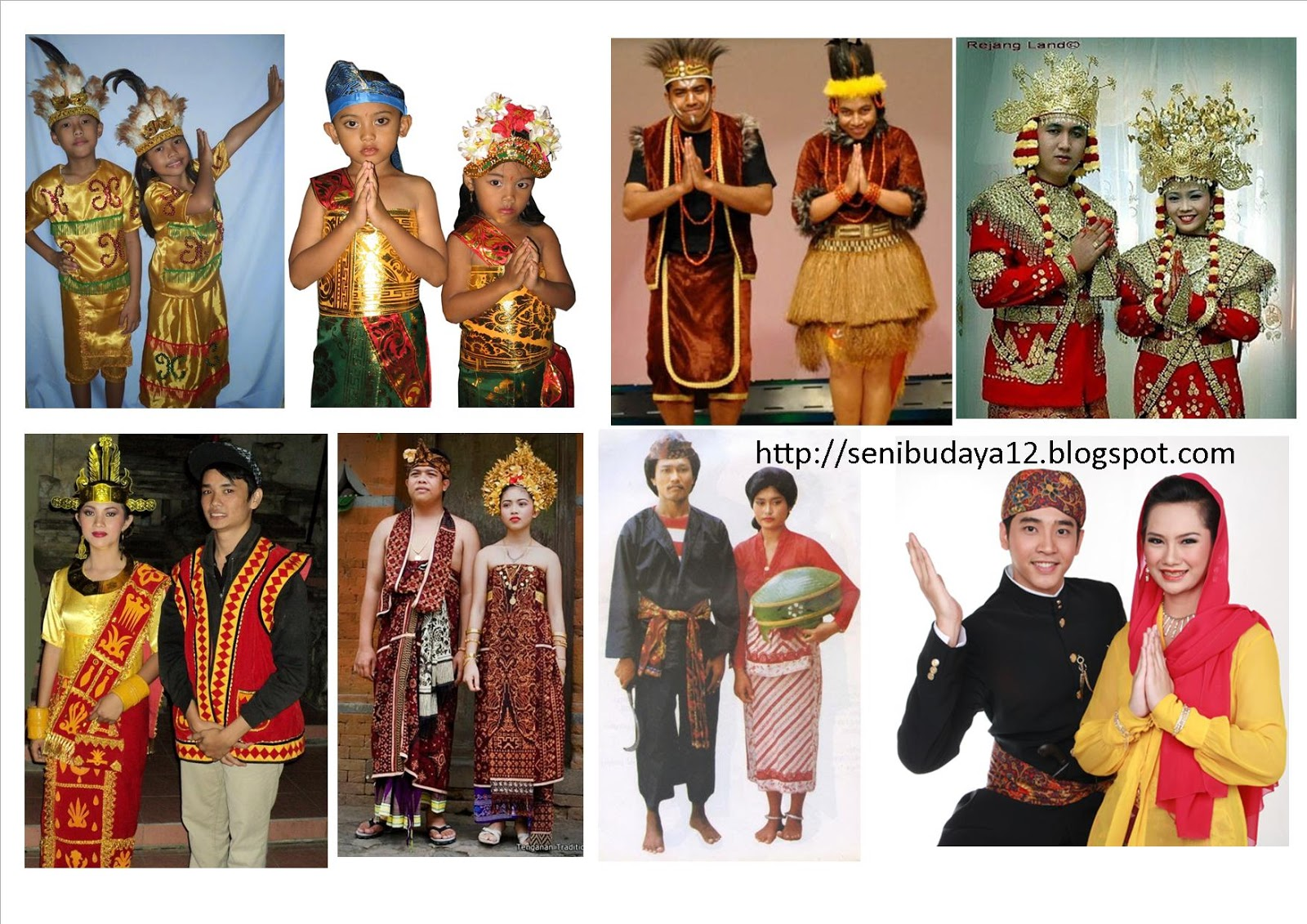 Seni Budaya Gambar Dan Nama Baju Adat Daerah Di 34 Provinsi