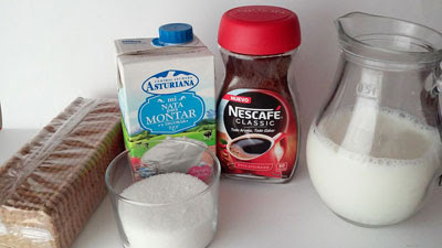ingredientes tarta de galletas con moka