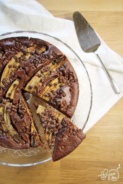 Gâteau au Chocolat et Banane Vegan recette facile rapide pas chère