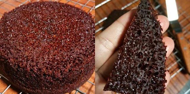 Resepi Kek Gula Hangus / Kek Sarang Semut