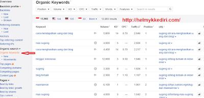 Cara mencuri semua keyword kompetitor2