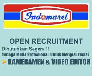 Lowongan Kerja Kameramen dan Video Editor di Indomaret Makassar