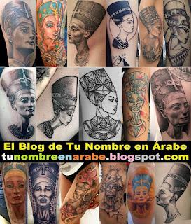 Tatuajes de la reina Nefertiti