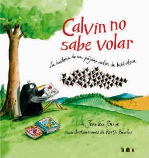 Portada  libro infantil Calvin no sabe volar