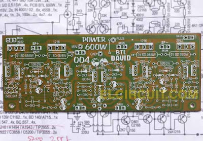 PCB layout Design Power Amplifier Circuit