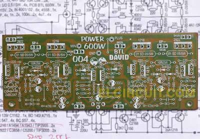 PCB layout Design Power Amplifier Circuit