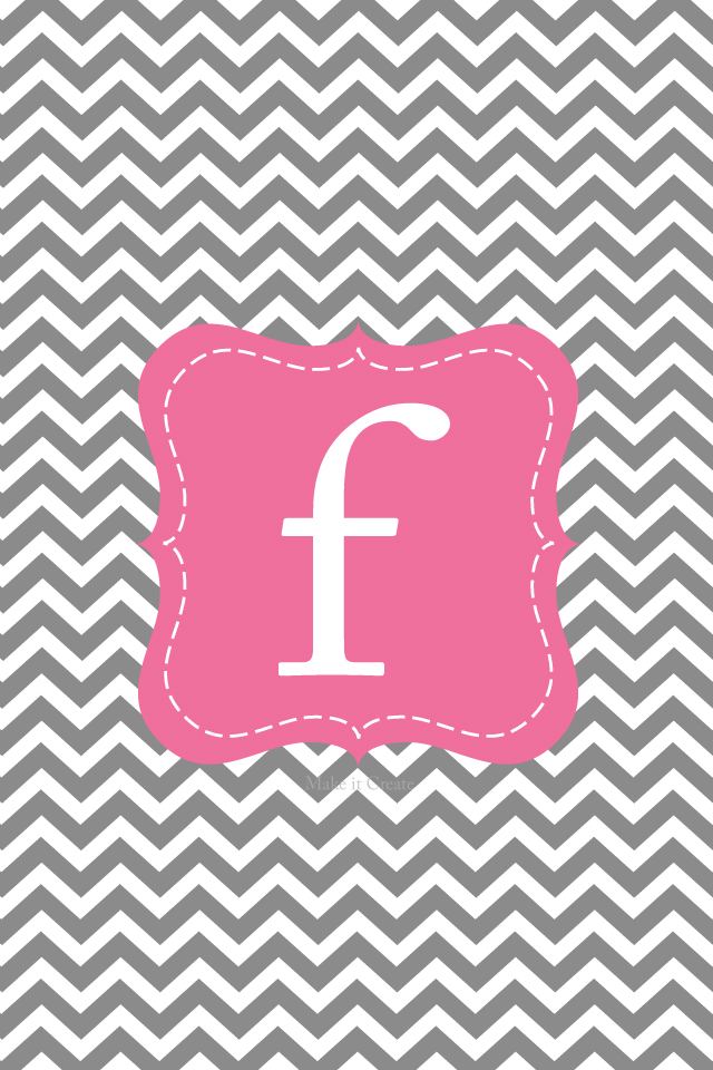 Make it...Create--Printables & Backgrounds/Wallpapers: iPhone Chevron Initial Lock Screens