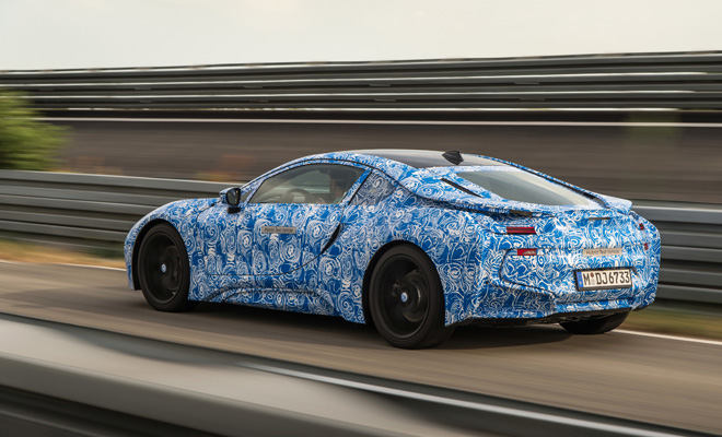 BMW i8 prototype rear view