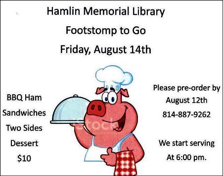 8-14 Footstamp To Go, Hamlin Library, Smethport