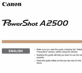 Canon PowerShot A2500 Manual