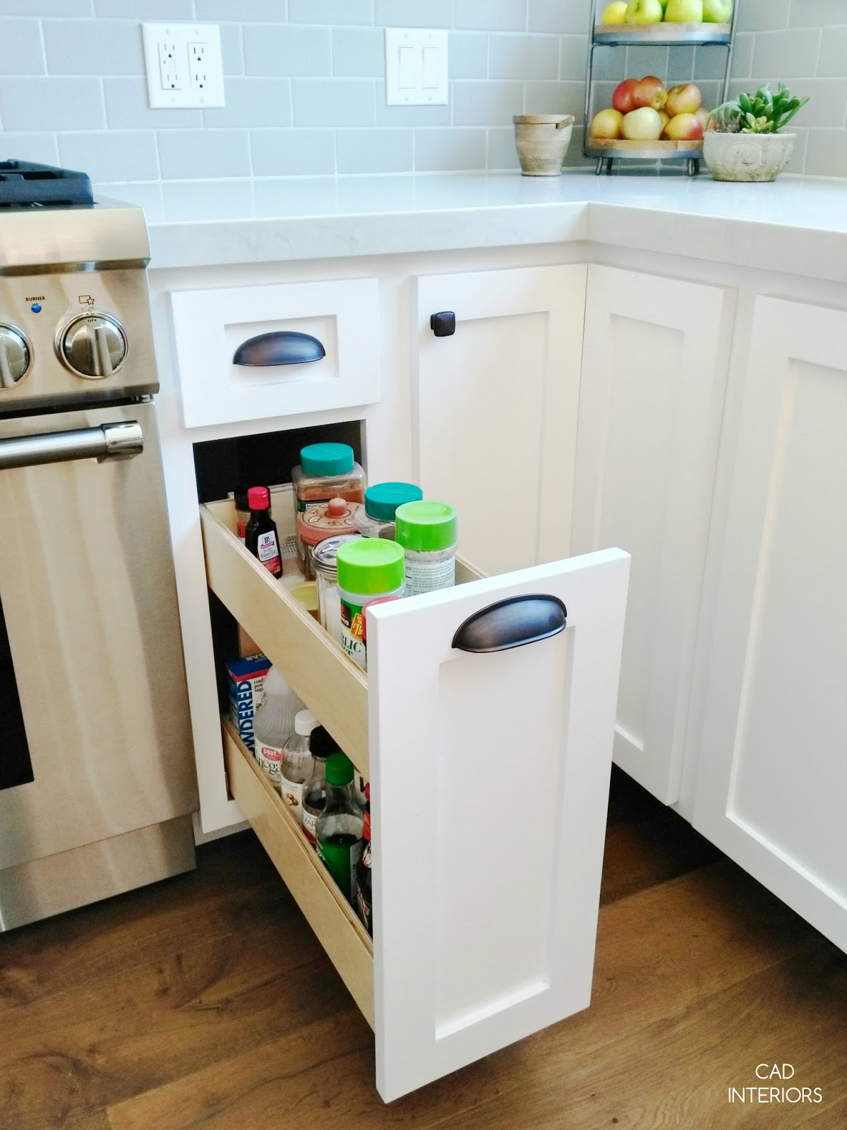 how we filled narrow kitchen cabinet skinny kitchen cabinet kitchen storage solutions ideas built in pull out interior design remodel CAD INTERIORS kitchen renovation