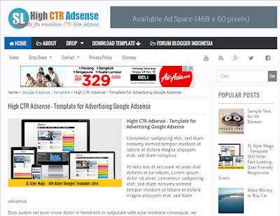 High CTR Adsense - Template SEO Paling Mantab Ningkatin CTR Adsense