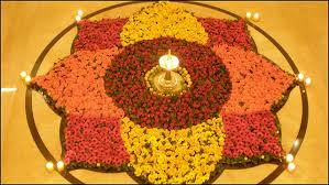 Flower Rangoli Design For Diwali