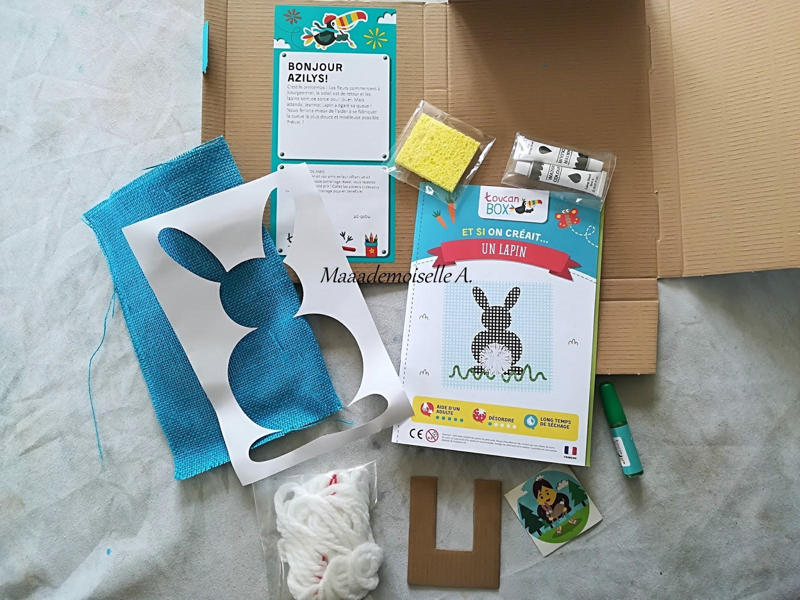Maaademoiselle A Kit Créatif Toucanbox Et Si On Créait Un