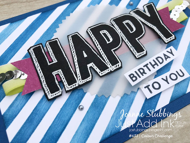 Jo's Stamping Spot - Just Add Ink Challenge #433 using Happy Celebrations Stamp Set by Stampin' Up!