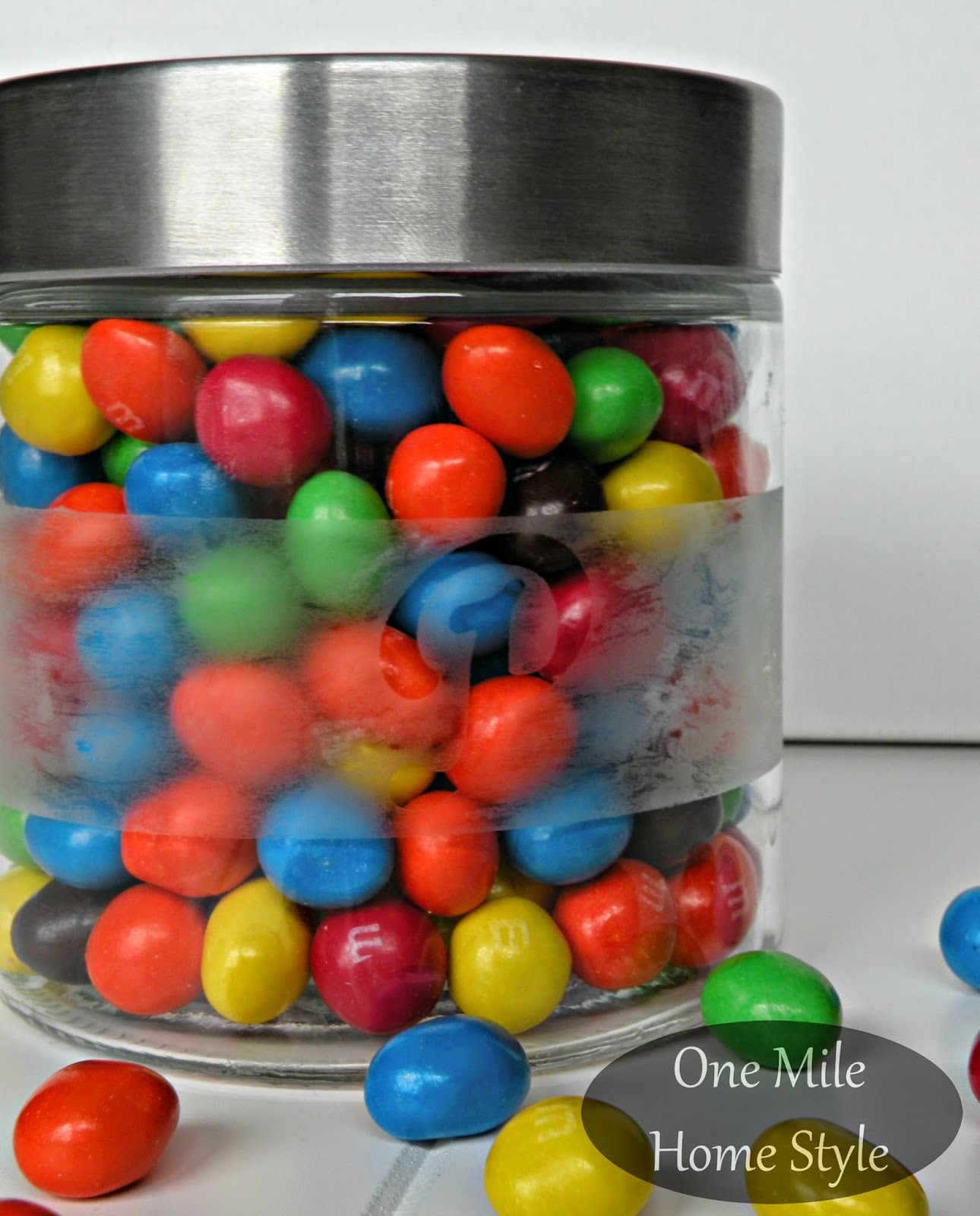 Easy Custom Candy Jar | One Mile Home Style