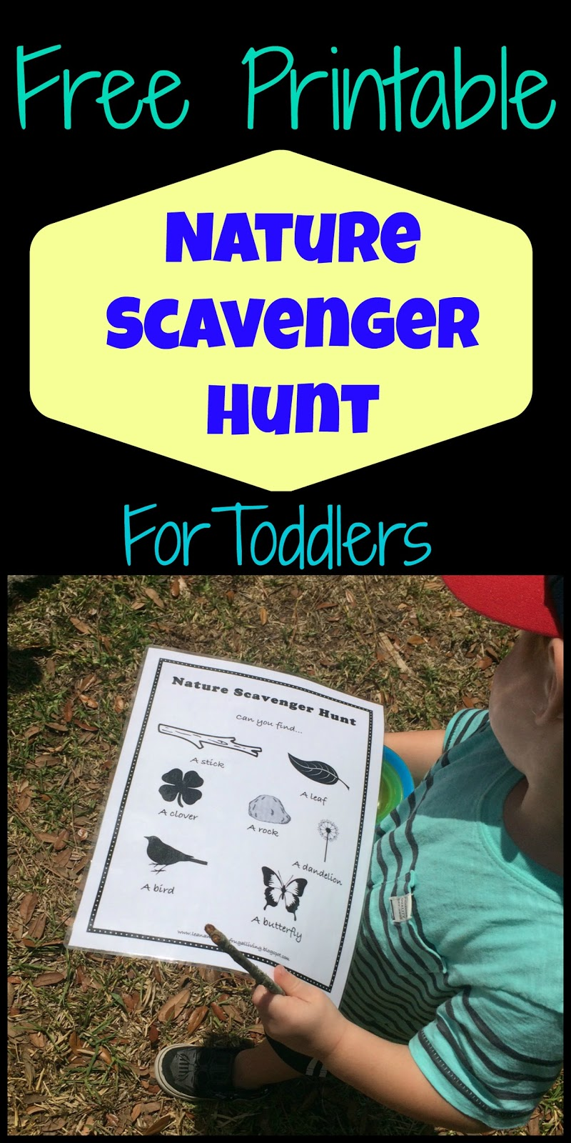 Free Printable Nature Scavenger Hunt for Toddlers